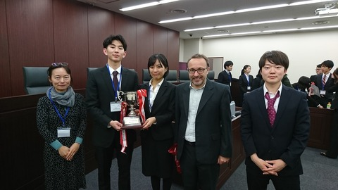 IHL Moot Japan 1st prize with chief judge