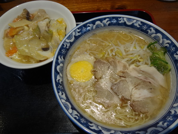 豚 中華丼セット  (2)