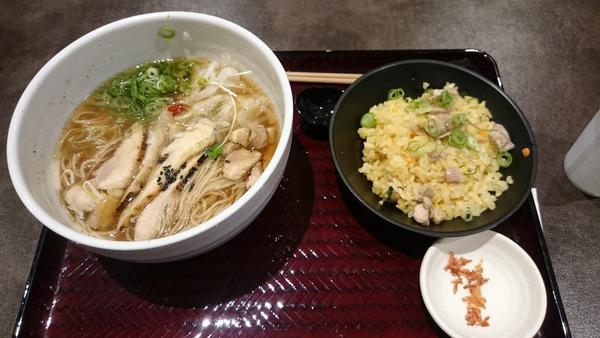 鶏そば 半炒飯セット (2)