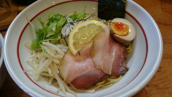 大津家 魚介ブラックつけ麺  (3)
