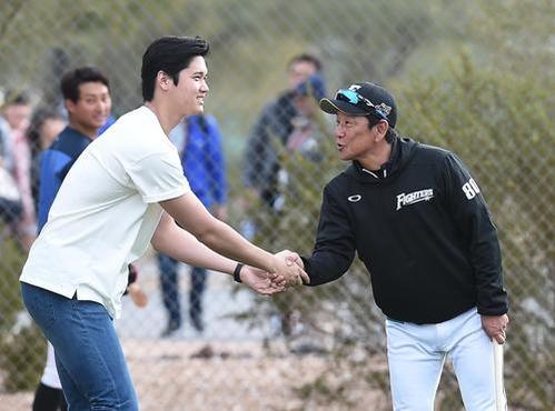 【朗報】大谷翔平さん、ガッフェに会いに来るwwwwwwwwwww