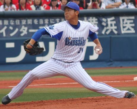 横浜DeNAベイスターズ投手の今永昇太。横浜スタジアムにて。