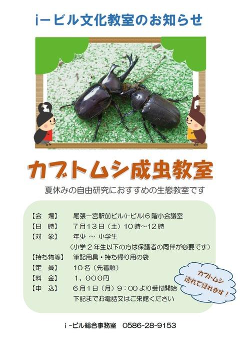 カブトムシ成虫教室ポスター画像