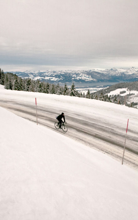 SnowRoad on bicycle