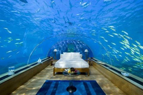 モルディブRangali島、ヒルトンのホテル