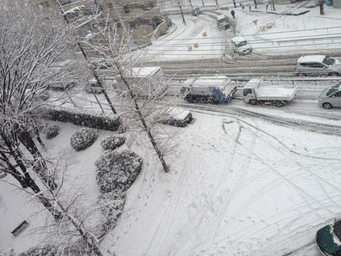20130114青葉区雪景色