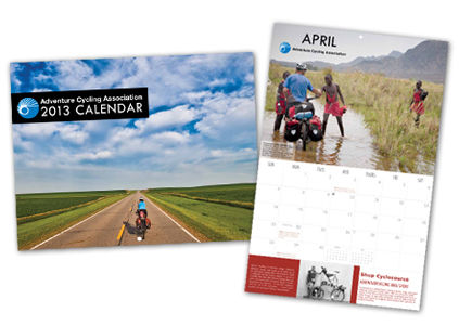 2013 Bicycle Travel Calendar