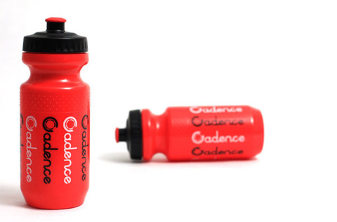 Logo Repeat Water Bottle-Red