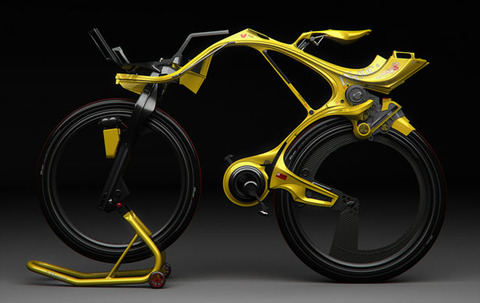 electric bike concept  by Edward Kim and Benny Cemoli,