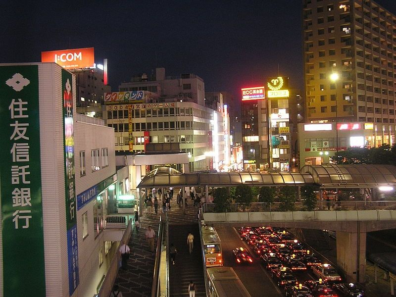 800px-夜の藤沢駅南口