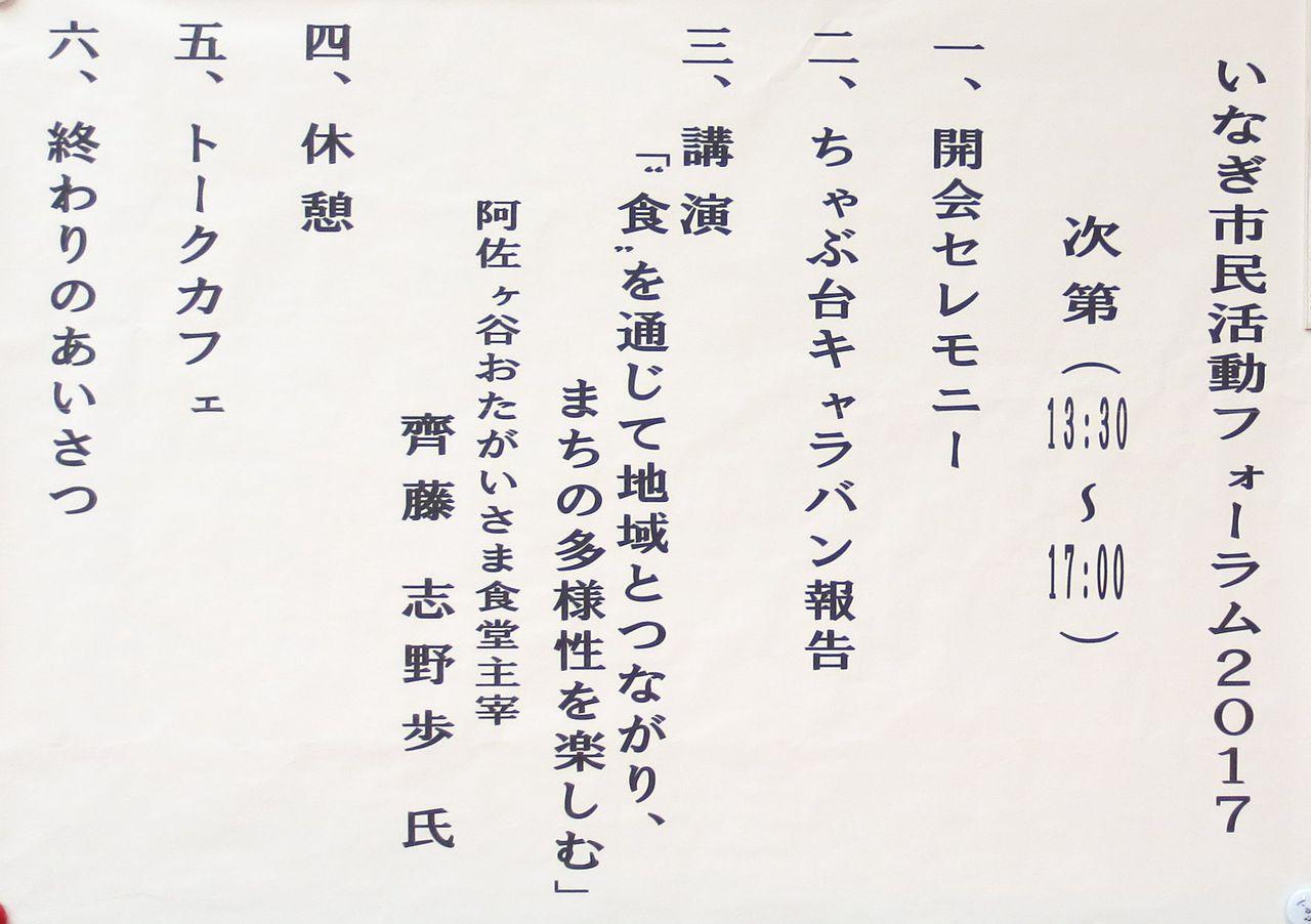 いなぎ市民活動フォーラム2017