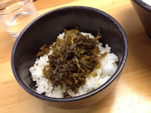 ばっこ志_高菜ご飯