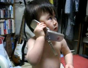 【動画】 サラリーマン必見の営業電話テクを披露する赤ちゃん