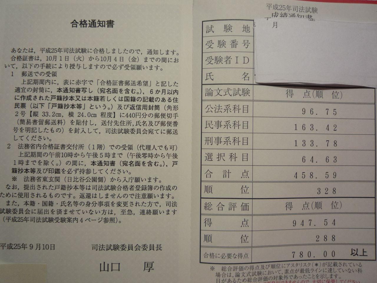 勉強日記:平成25年度司法試験 最...