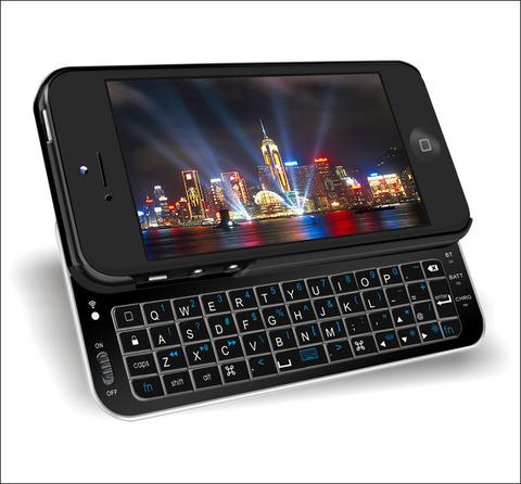 iPhoneスライドキーボード