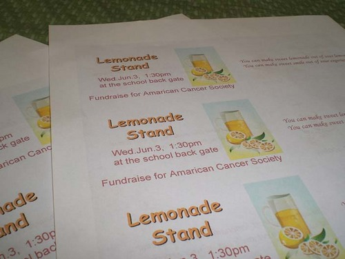 lemonade stand - tickets