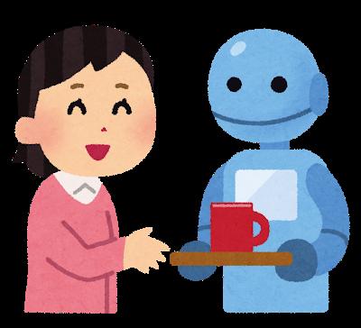 ロボットがコーヒーをサーブ
