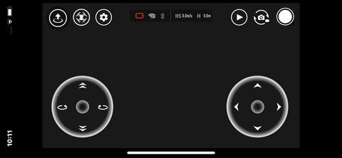 iOS版TELLOアプリの操作画面