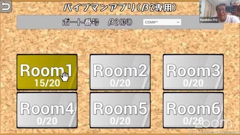 インターネットリレーボックスの画面