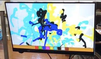 A児が視線入力に取り組んで2年後に描いた絵