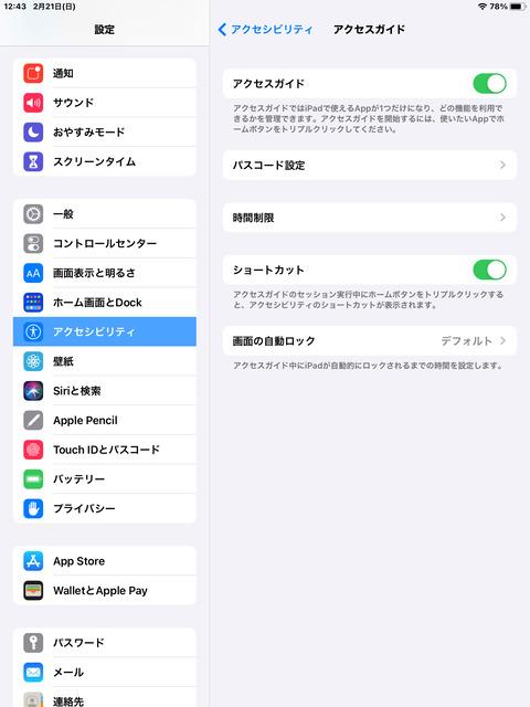 iPadOS14.4のアクセスガイド