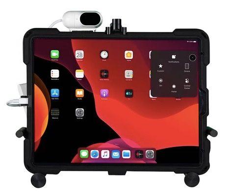 iPadに取り付けたTrackerPro 2