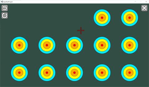 Gaze Test Toolの画面