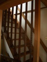 階段手摺リフォーム前2