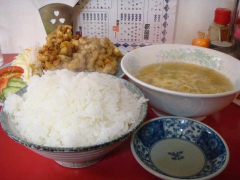 肉の天ぷら定食おかず・ご飯大盛3