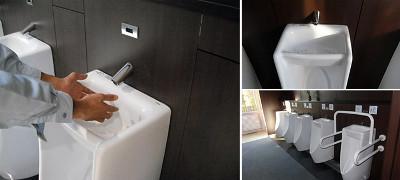 手洗い器付小便器