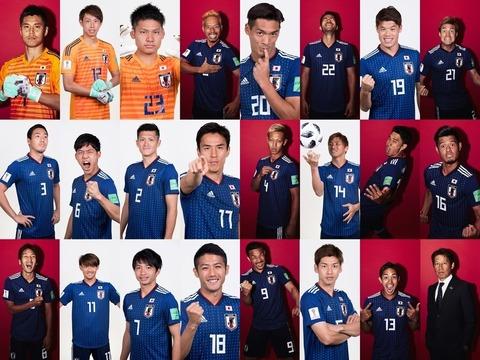 【朗報】サッカー日本代表のFIFA公式写真が発表