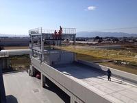 天理市消防庁舎完成竣工式 訓練風景