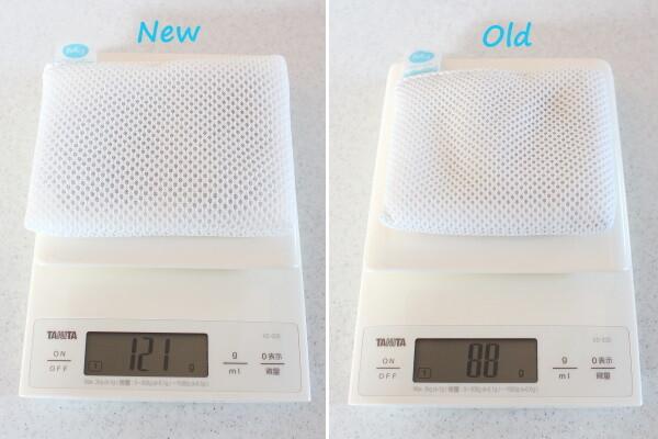 20210308_ランドリーマグちゃん新旧重さ比較