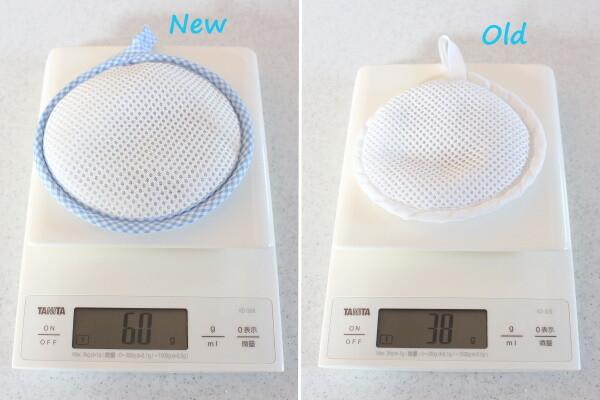 20210308_洗たくマグちゃん新旧重さ比較