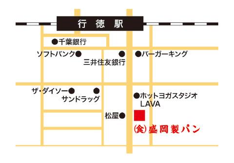 盛岡製パン行徳店地図