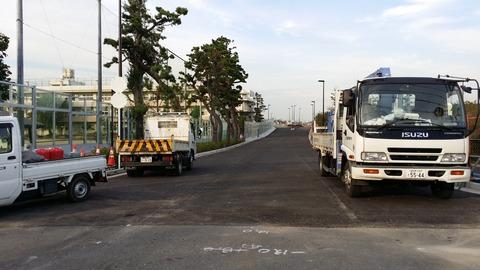 富貴島小学校横の道路