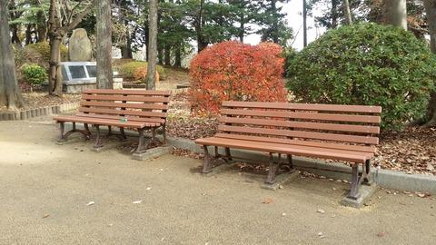 須和田公園のベンチ