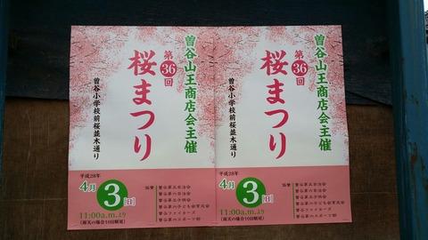 曽谷小学校前/桜まつり2016