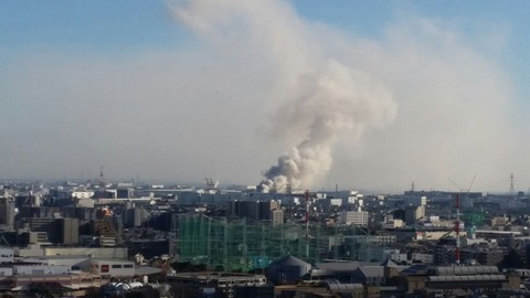 船橋潮見町のスクラップ火災