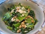 高菜と大豆とお豆腐の煮物