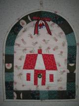 クリスマスハウスのキルト