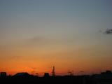 今日も夕焼けがきれいでした