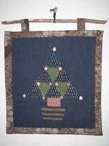 古布のミニクリスマスツリー