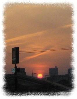 きれいな日没でした