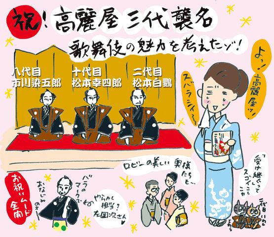 歌舞伎座!高麗屋三代襲名披露にいってきたよ☆の巻~着物大好きコミックエッセイスト ほしわにこ連載コラム「オトナの着物生活」