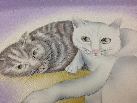 猫の帯お太鼓アップ