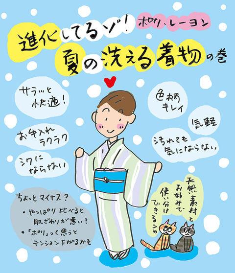 夏の洗える着物が進化してるゾ☆の巻  ~着物大好きコミックエッセイスト 星わにこ連載コラム「オトナの着物生活」~