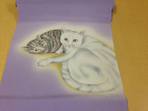猫の帯お太鼓全景