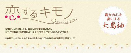 期間限定「恋するキモノ 貴女を虜にする大島紬」フェアスタート!