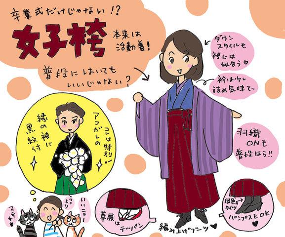 袴について考えた。もっと袴を楽しもう の巻 ~着物大好きコミックエッセイスト ほし わにこ連載コラム「オトナの着物生活」~